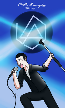 Chester Bennington by kenstyFelz