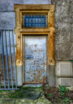 The door and the railing