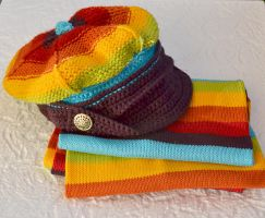 Colorfull winter set by dosiak
