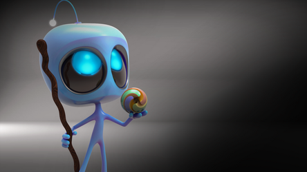 Zbrush Doodle Day 946 - Robot Kid Version 37 by UnexpectedToy