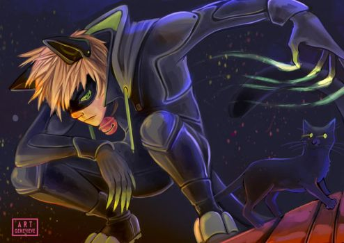 Chat noir by 99g3ny99