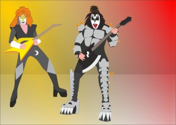 August (Vinnie Vincent and Gene Simmons) by Apkx