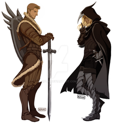 Alistair and Zevran by nipuni