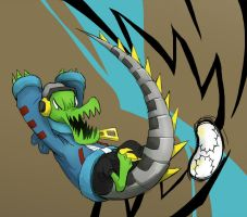 Fan Art- Lethal League's Latch by Xavier-Isaacs