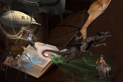 The Pages Come Alive by Dunclaw