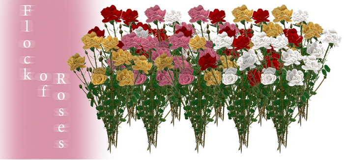 [MMD] Flock of Roses - DL by JoanAgnes