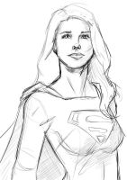 Supergirl Sketch by GreenOraphon98