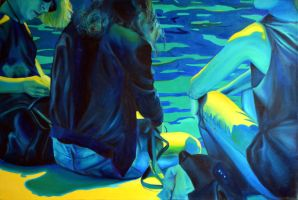 Waiting for the summer, 2014, 120-80cm, oil on can by oanaunciuleanu