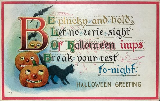Halloween Greeting by Yesterdays-Paper