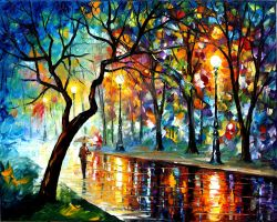 WINDY NIGHT by Leonid Afremov by Leonidafremov
