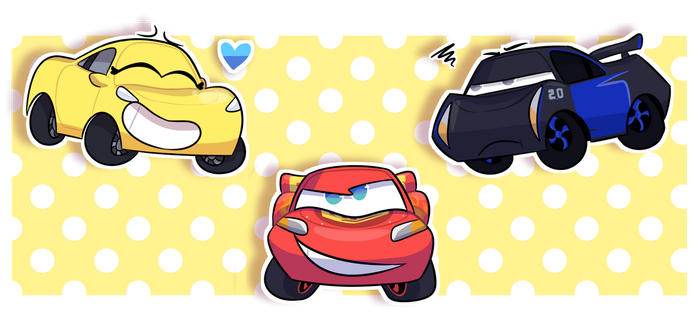 cAr chibis by cinemasoda