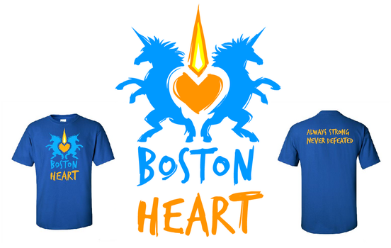 Boston Heart T-Shirt by seraphxviii