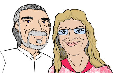 Dad and Suzanne by technosapien
