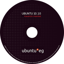 CD Cover for Ubuntu by Al-Wazery