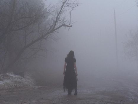 Walking into the Fog by Zombie-Pip
