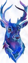 blue deer by Alexandra-Mad