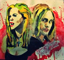 Pam and Eric  from True Blood by MontseVelmz