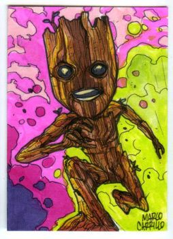 baby groot sketch card by mdavidct