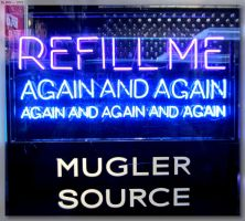 Refill Me Neon Sign by JohnK222