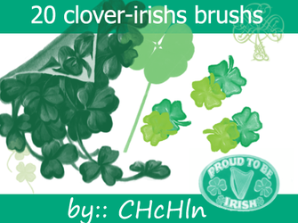 20 clovers and irishs brushs by chchln