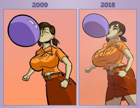 Draw This Again- Bubbles Blowing Bubbles by lightfootcomics
