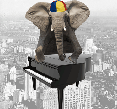 Jimmy the piano thrower by Valdevia