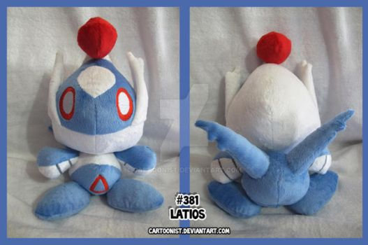 Latios PokeChao Plush by cartoonist