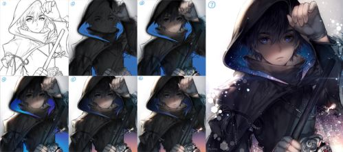 Ganglim step by step by kawacy