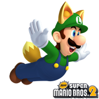 New Super Mario Bros. 2: Fox Luigi by Legend-tony980