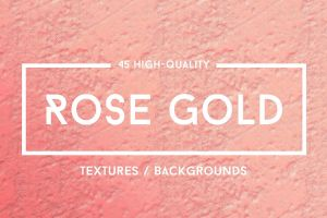 45 Roze Gold Foil Textures - 50% OFF by GraphicAssets