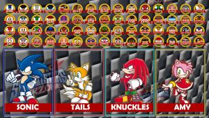 SONIC and SEGA ALL STAR WARZONE select screen by MrJechgo