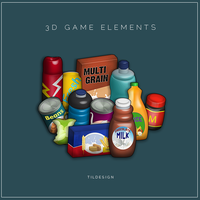 3d game elements by Matylly