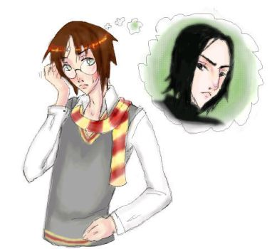 Harry and Snape by Nema-Cyn