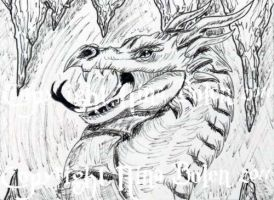 Pen and Ink Dragon ACEO 2 by The-GoblinQueen