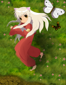 Thinking of you, daddy Inuyasha by koda-soda