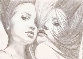 Ashley et Mary-Kate Olsen 4 by crayon2papier