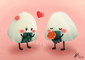 Romantic Onigiri by Maygreen