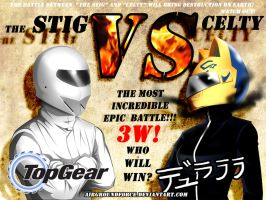 The Stig Versus Celty by Prafa-AR
