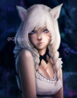FFXIV OC commission by Ghinarts