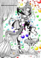 Girl's colored spheres colo09 by Akina-art