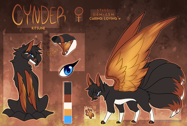 Cynder Ref Commission by ezpups
