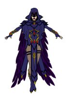 Teen Titans-Raven Redesign by Comicbookguy54321