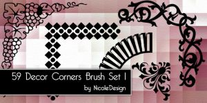 Decor Corner Brush set 1 by noema-13