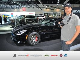 Me with the SRT Viper by JoshuaCordova