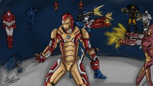 Iron Man 3 Armor Fight by toonager