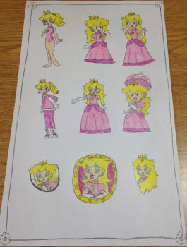 My Princess Peach drawings 5 by Prince5s