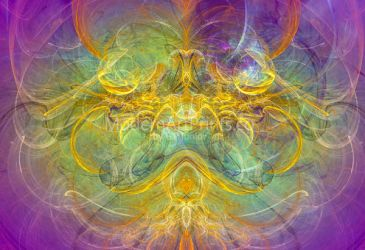 Digital Abstract Art - Obeisance to Nature by ModernArtPrints