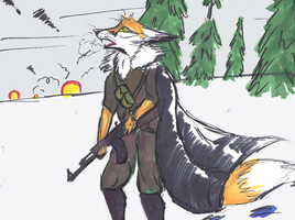 Marker play - Fox by ComradeK