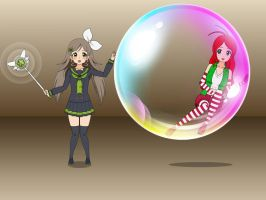 Riley ineside Magic Bubble by sunnyDg