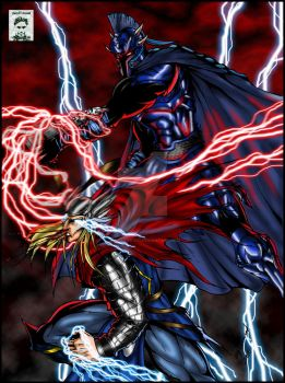 Thor vs Ares by ssejllenrad2